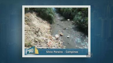 Moradores reclamam de córrego sujo e com mato alto no Jardim Yeda em Campinas - Segundo os moradores o problema é ainda maior porque elas têm medos das casas desabarem.