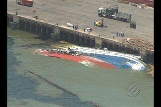CDP diz que problema provocado por naufrágio em Barcarena será resolvido por etapas - Administradora do porto de Vila do Conde afirma que o trabalho pode demorar até seis meses.