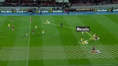 Análise tática: bola nas costas de Marcelo - Análise tática: bola nas costas de Marcelo