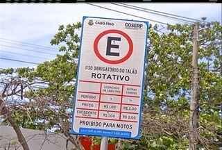 Mudanças no estacionamento rotativo de Cabo Frio, RJ, entram em vigor nesta sexta - Alterações abrangem o centro, a Gamboa, o Mercado de Peixes e a Praia do Forte.