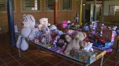 Alunos de universidade arrecadam alimentos e brinquedos para crianças em Ribeirão Preto - Voluntários realizaram distribuição de presentes em creche municipal.