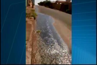 Telespectadora faz denúncias de vazamento no Bairro Serra Morena em Araxá - Ela diz que problema é frequente. no bairro. Copasa informou já foi realizada manutenção no local.