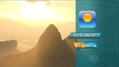 Confira a previsão do tempo para domingo - A máxima será de 35 graus, e o sol deve sair à tarde.