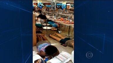 Segurança é morto em tentativa de assalto em shopping no Rio de Janeiro - Famílias que faziam compras para o Dia das Crianças viveram momentos de pânico. Assaltantes ainda balearam uma mulher de raspão e fugiram.