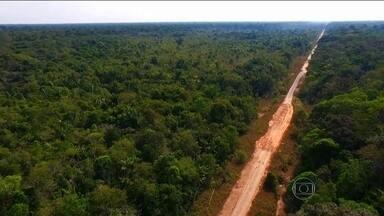 Quase 40 anos após inauguração, BR-319 continua inacabada - Rodovia liga Manaus, no Amazonas, a Porto Velho, em Rondônia. Condições precárias põem em risco quem se atreve a viajar por ali.