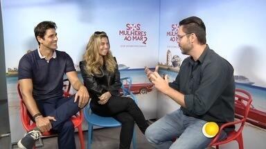 Gianecchini e Giovanna Antonelli falam de nova comédia - Sos - Mulheres ao Mar 2 estreia com elenco de peso: Talita Carauta, Reynaldo Gianecchini e Giovanna Antonelli.