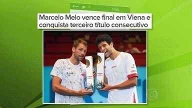 Número 1 do mundo em duplas, tenista Marcelo Melo vence terceiro torneio em duas semanas - Número 1 do mundo em duplas, tenista Marcelo Melo vence terceiro torneio em duas semanas