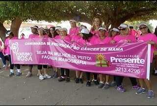 Cerca de mil pessoas participam da Corrida Outubro Rosa em Montes Claros - Ação alerta as mulheres sobre os cuidados com a saúde.
