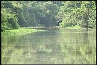 Após chuva, Rio Uberaba recupera boa parte da vazão, diz Codau - Informação é da assessoria do Codau. Sistema de transposição do Rio Claro continua ligado.