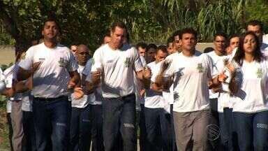 Alunos da ACADEPOL treinam para a Volta de Aracaju - Alunos da ACADEPOL treinam para a Volta de Aracaju