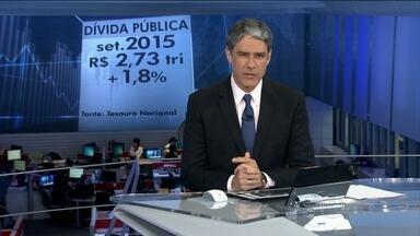 Dívida pública do Brasil passa dos R$ 2,7 trilhões em setembro - Além de não pagar o total de juros que já devia, o governo pegou mais dinheiro emprestado. Outro motivo do aumento foi o dólar caro, que afeta a dívida externa.