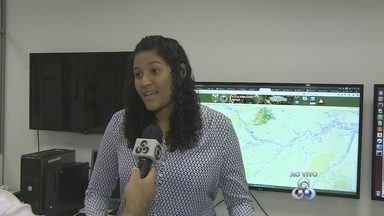 Meteorologista fala sobre redução de nuvem de fumaça em Manaus - Segundo Deydila Bonfim, aumento da umidade facilita a dispersão dos poluentes.