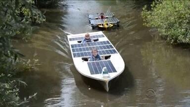 Estudantes catarinenses participam de campeonato de barcos movidos a energia solar - Estudantes catarinenses participam de campeonato de barcos movidos a energia solar