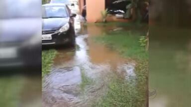 Vazamento de água inunda terreno e casa em Ribeirão Preto, SP - Problema aconteceu após rompimento de tubulação no bairro Jardim Califórnia.