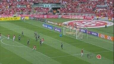 Ponte Preta perde para o Internacional por 1 a 0 - Durante o jogo, o gol do Internacional causou polêmica.