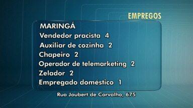 Veja as vagas de emprego em Maringá e na região - Tem vagas para Mandaguari e Campo Mourão