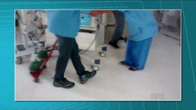 Bebês são retirados às pressas da UTI neonatal do HU - O setor ficou alagado na última chuva forte. Dez pacientes foram retirados e levados para outros setores do hospital.