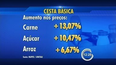 Preço da cesta básica sobe 0,88% na região - Carne, açúcar e arroz foram os vilões dos preços.