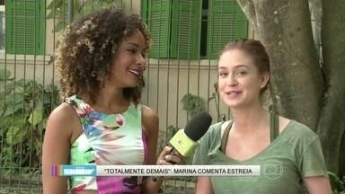 Marina Ruy Barbosa comenta a estreia: 'Dá uma emoção muito grande' - Atriz diz que novela é um conto de fadas