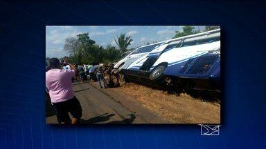 Seis pessoas ficaram feridas em um acidente entre um ônibus e um caminhão-tanque - O acidente aconteceu em Miranda do Norte.