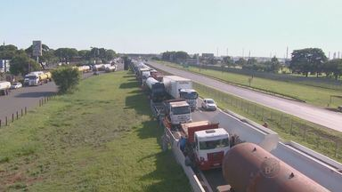 Após protesto de caminhoneiros, rodovia Zeferino Vaz, em Campinas, é liberada - Liberação aconteceu após decisão judicial.
