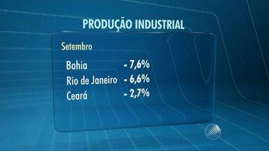 Produção industrial da BA registra a maior queda entre os estados pesquisados, diz IBGE - O dado é referente a um estudo feito no mês de setembro.