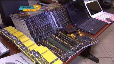 Três pessoas são presas por violação de direito autoral. - Quadrilha falsificava e vendia material de um curso de medicina em Foz do Iguaçu.