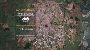 Violência nos bairros de Ribeirão Preto, SP, assusta os moradores - Em cada região, os bandidos agem de maneiras diferentes. Na zona norte o alvo é o pedestre. Já na zona sul, o foco dos bandidos está nos carros.