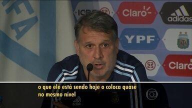 Tata Martino elogia Neymar e compara brasileiro a Messi e Cristiano Ronaldo - Treinador da Argentina trabalhou com o jogador no Barcelona.
