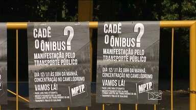Manifestantes fizeram protestos por falta de ônibus em Imperatriz - Manifestantes fizeram protestos por falta de ônibus em Imperatriz