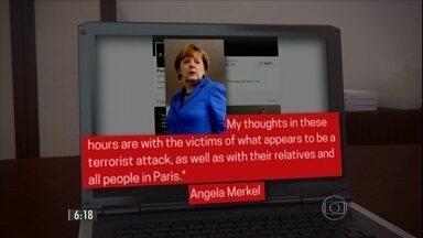 Presidentes e chefes de estado de várias partes do mundo se manifestam na internet - Jornais da França também destacaram o massacre terrorista considerado o maior da história do país.