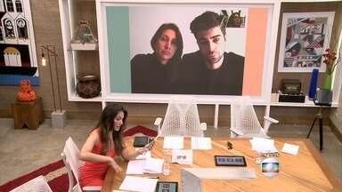 Os brasileiros Francine e Diogo contam que estavam próximos ao local que sofreu ataque - Os dois revelam a Patrícia Poeta que foram orientados a não sair de casa