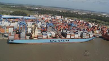 Porto de Rio Grande comemora cem anos neste domingo (15) no RS - É o segundo maior porto em movimentação de cargas do Brasil.