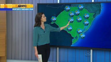 Tempo: previsão é de chuva forte para esta quinta-feira (19) no RS - Volume de água deve ser maior que nos últimos dias.