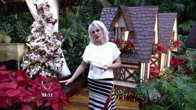 Ana Maria elogia decoração de Natal da Casa de Cristal - Apresentadora do Mais Você mostra detalhes natalinos