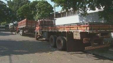 Falta frete para caminhoneiros na região de Campinas - A espera para conseguir uma carga tem durado até 8 dias.