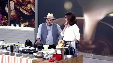 Barista Emílio explica diferentes tipos de preparo de café - Fátima experimenta a bebida e explica os erros mais comuns ao preparar um cafezinho em casa