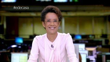 Tiago Leifert conversa com Zileide Silva ao vivo - Jornalista apresenta Jornal Hoje e comenta as notícias do dia
