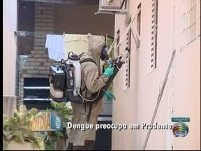 Vigilância Epidemiológica realiza ação de combate à dengue em Pres. Prudente - Município registrou mais 74 novos casos da doença nesta terça-feira.