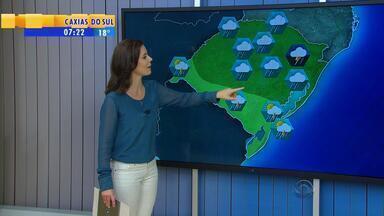 Tempo: previsão para quinta-feira (3) é de chuva em todo o RS - Região da Campanha também será atingida.