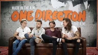 Após pausa, integrantes do One Direction pensam em férias no Brasil - Renata Ceribelli foi ao México conversar com os meninos. Louis diz que jovens não têm planos, nem regras de quanto tempo vão ficar separados.