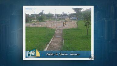 Morador denuncia abandono da Praça Central de Mococa - Prefeitura afirma que já está realizando os serviços de manutenção.