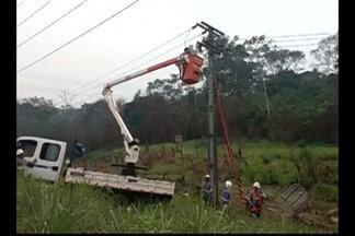 Funcionário recebe descarga elétrica ao fazer manutenção em poste em Tucuruí - Trabalhador segue internado no Hospital Regional de Tucuruí nesta terça-feira (8). Ele foi socorrido por colegas após incidente em trecho da rodovia BR-422.