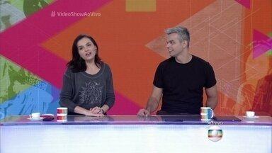 Monica e Otaviano convidam Fátima Bernardes para dançar no Vídeo Show - Os apresentadores avisam que apresentadora do Encontro pode até escolher a música