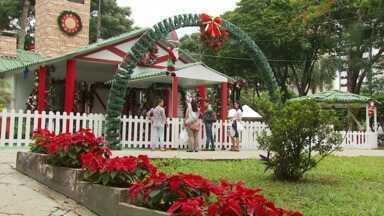 Veja algumas das atrações natalinas em Maringá - Tem passeio de trem, visita à casa do Papai Noel