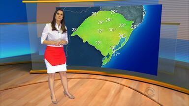 Chuva volta ao RS nesta quarta (9) - Em Porto Alegre temperatura vai chegar aos 34ºC.