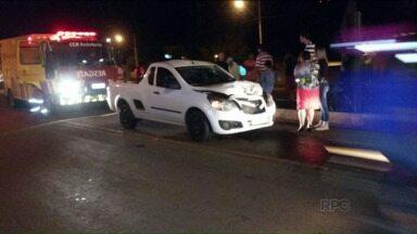 Moradores fecham BR-376 por causa dos acidentes perto de Mauá da Serra - Ontem teve mais um acidente na rodovia e os moradores protestaram fechando a pista. Eles querem redutores de velocidade.