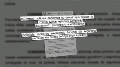 Polícia Militar não poderá mais deixar viaturas em frente a estabelecimentos comerciais - A recomendação é da Promotoria do Patrimônio Público, que entende que os empresários estariam sendo privilegiados pela PM.
