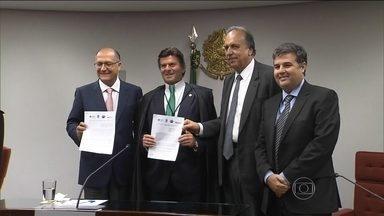 São Paulo, Rio e Minas Gerais vão administrar juntos a bacia do Rio Paraíba do Sul - É a primeira vez que a gestão do uso para o abastecimento de água vai ser feita por estados.
