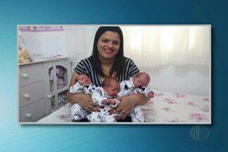 Trigêmeas que nasceram em Mogi das Cruzes são levadas a casa por primeira vez - As trigêmeas nasceram de forma natural, e nasceram no dia 20 de setembro.